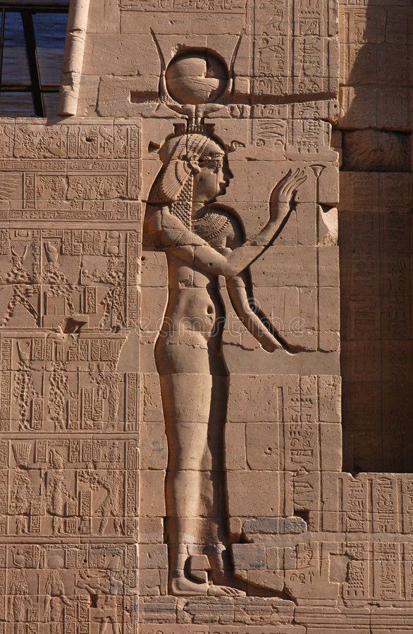 egipska bogini isis zdjęcia stock