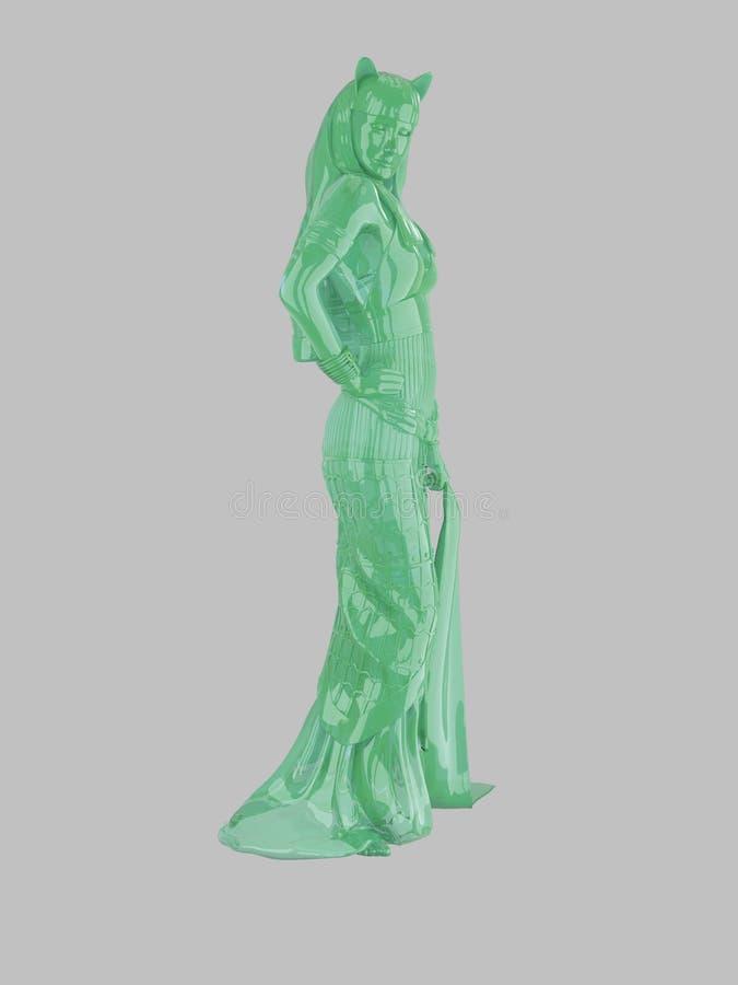 Egipska bogini statua royalty ilustracja