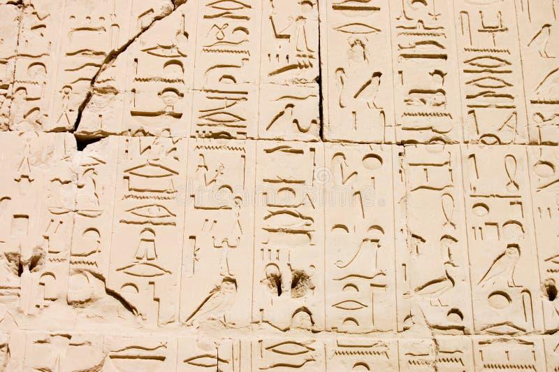 egipska hieroglifów karnak wzoru świątynia zdjęcie royalty free