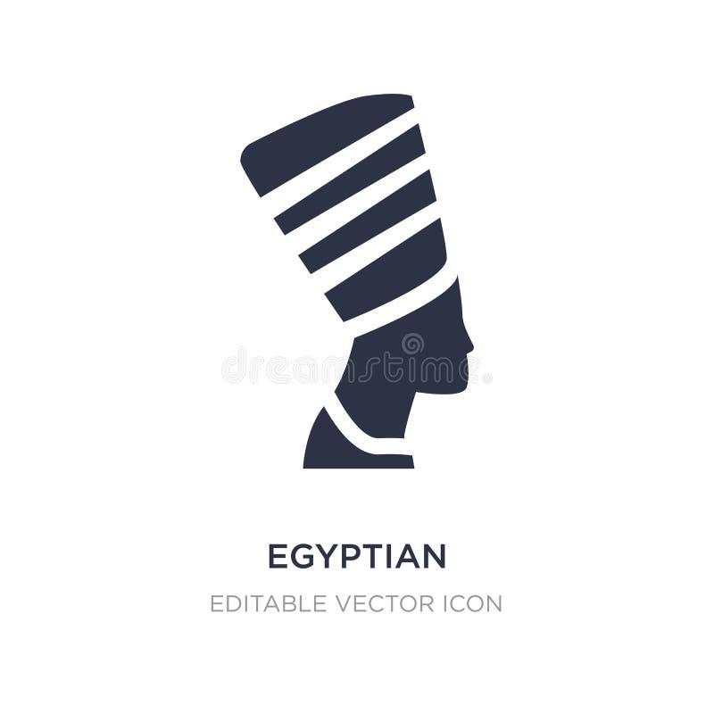 egipska ikona na białym tle Prosta element ilustracja od zabytku pojęcia ilustracja wektor