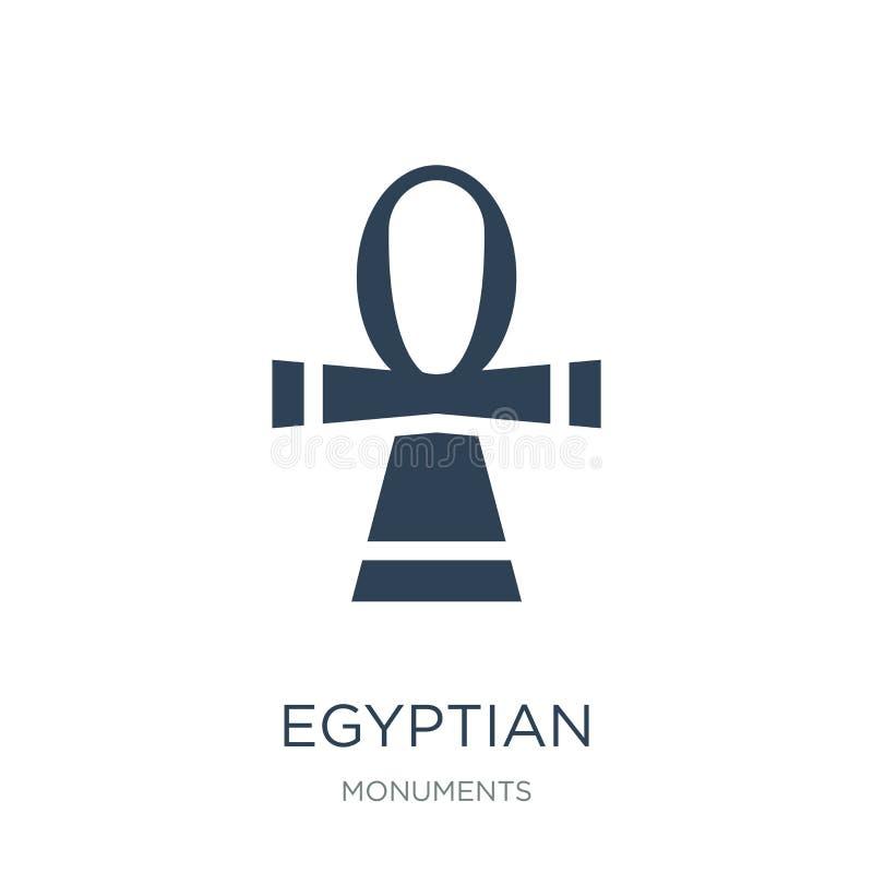 egipska ikona w modnym projekta stylu Egipska ikona odizolowywająca na białym tle egipskiej wektorowej ikony prosty i nowożytny m ilustracji