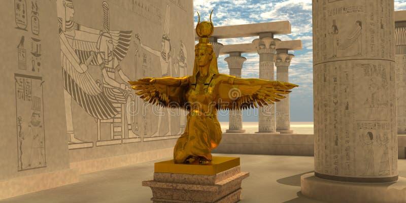 Egipska Isis statua ilustracji