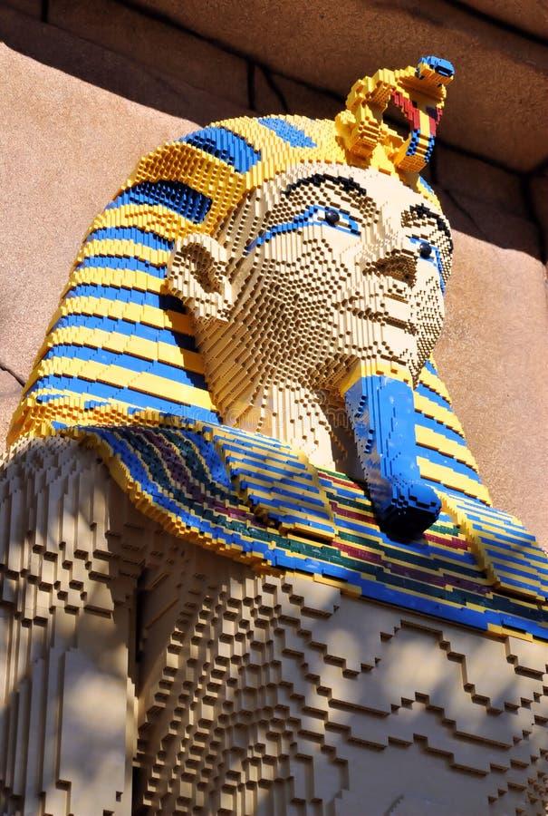 egipska lego pharaoh rzeźba fotografia royalty free