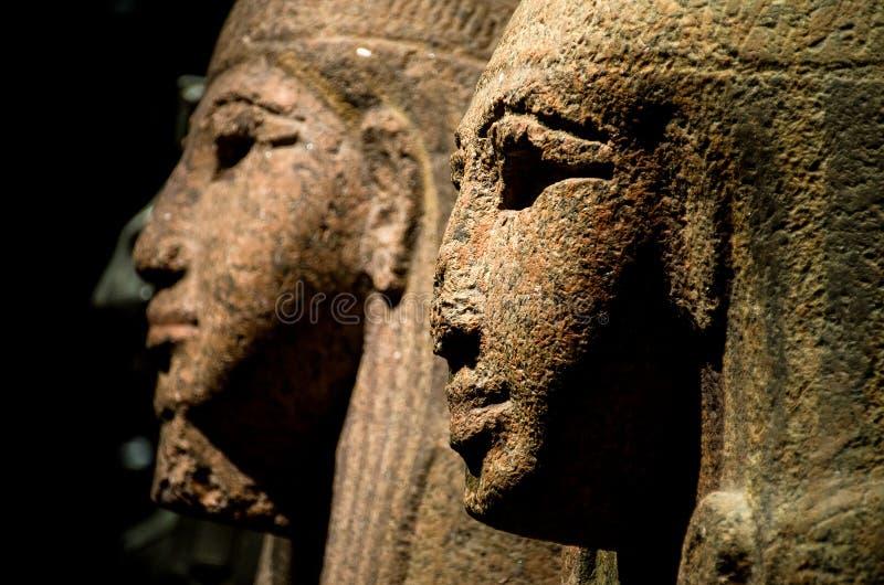 Egipska statua łamający sfinksa nos zdjęcie royalty free