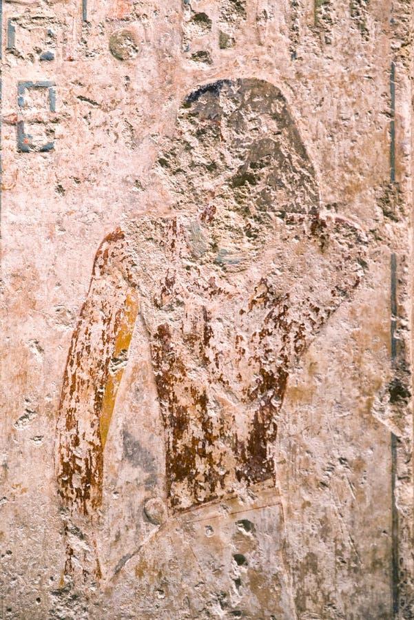 Egipski ścienny obraz zdjęcie stock