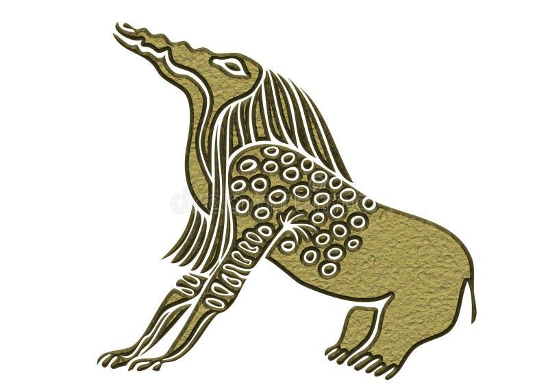 Egipski demon - kość zjadacz ilustracji