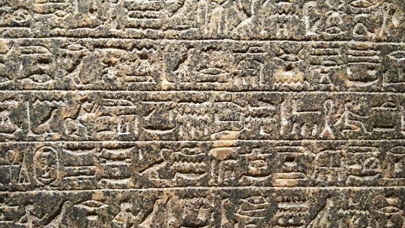 Egipski Hieroglificzny malujący na starej ścianie obrazy stock