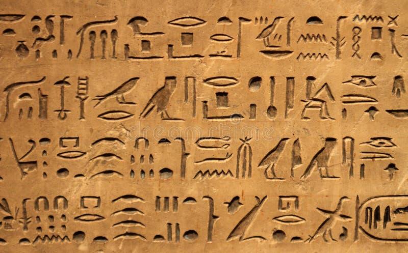 egipski hyeroglyphics obrazy stock