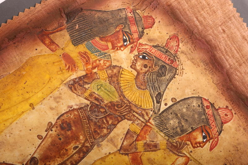 Egipski kobieta obraz na papirusie obrazy stock