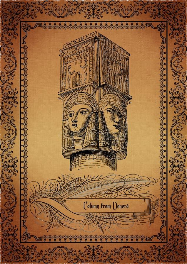 egipski pergamin ilustracja wektor
