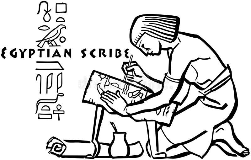 Egipski pisarczyk royalty ilustracja