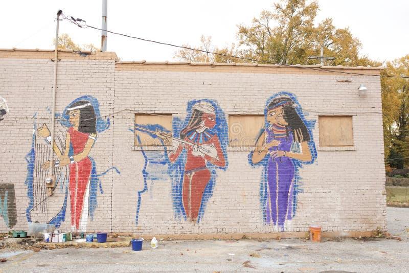 Egipski Princess obraz, Memphis, Tennessee obrazy royalty free