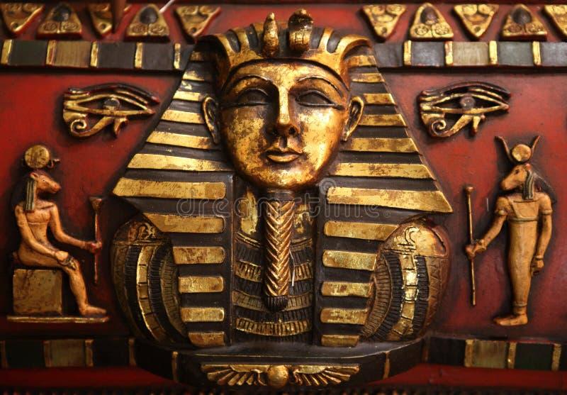 Egipski rzeźba szczegół fotografia royalty free