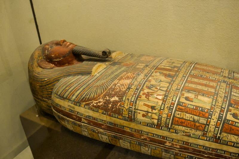 Egipski sarkofag Pharaoh obrazy royalty free