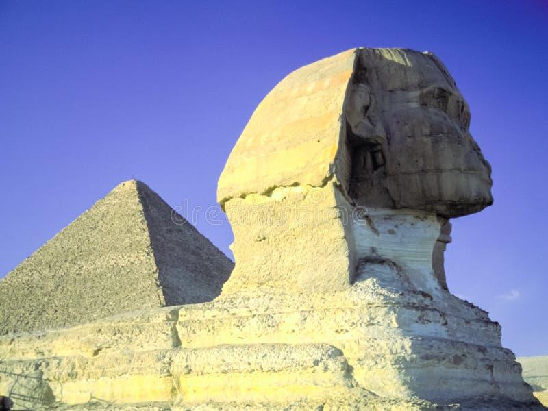 Egipski sfinks, antyczna statua antyczny zdjęcia stock