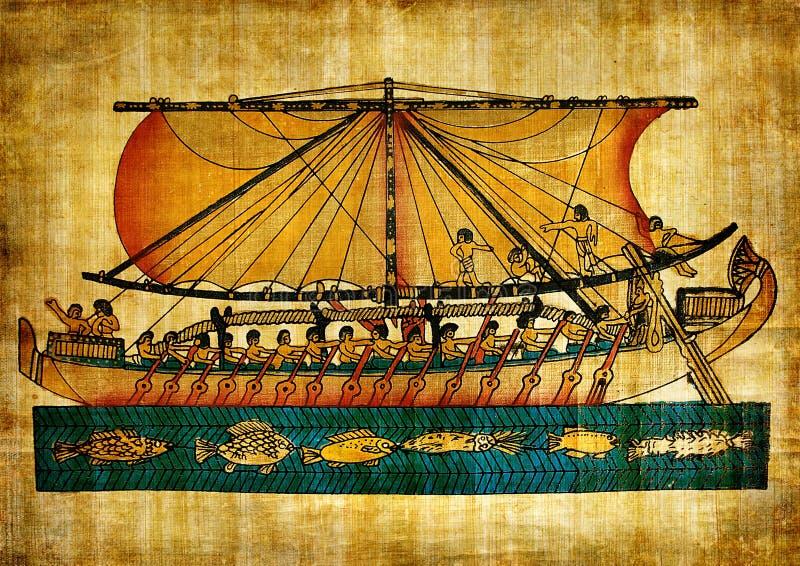 egipski stary papirus ilustracji