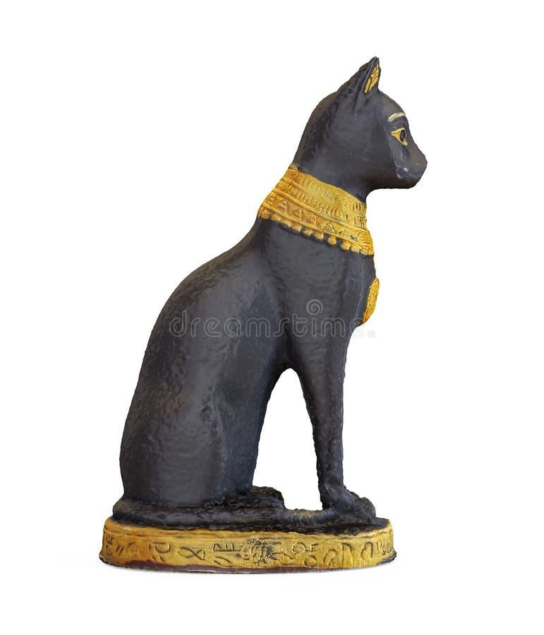 Egipskiego kota statua Odizolowywająca royalty ilustracja