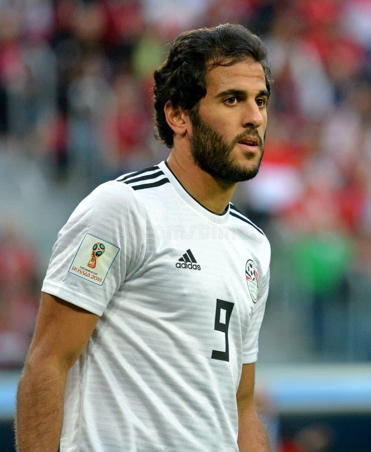 Egipt drużyny futbolowej krajowy strajkowicz Marwan Mohsen obrazy royalty free