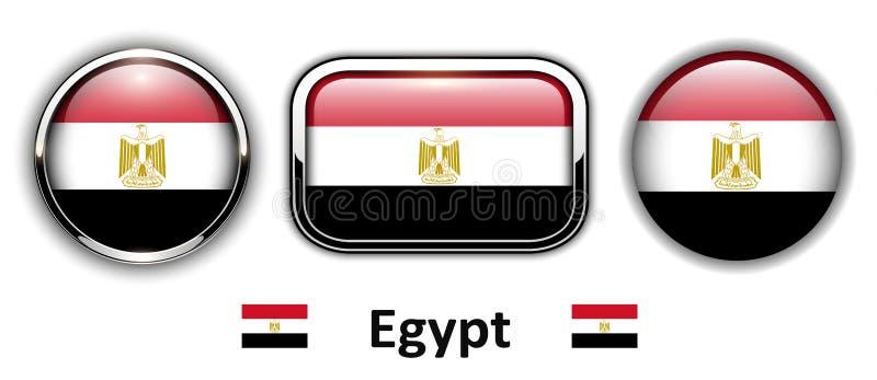 Egipt flaga guziki royalty ilustracja