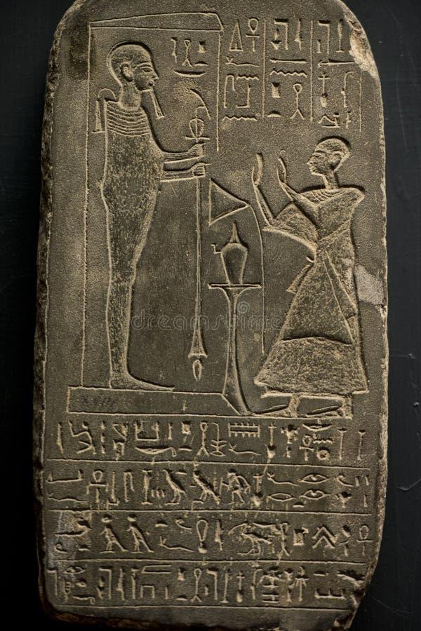 Egipt Hieroglyphics w dolinie królewiątka obraz stock