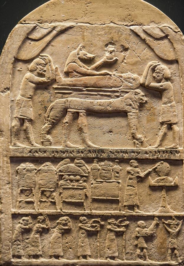 Egipt Hieroglyphics w dolinie królewiątka obraz royalty free