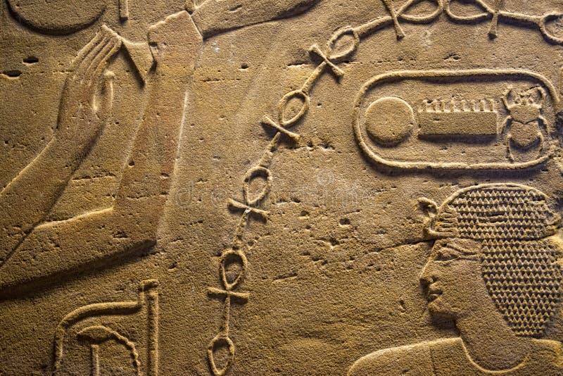 Egipt Hieroglyphics w dolinie królewiątka zdjęcia royalty free