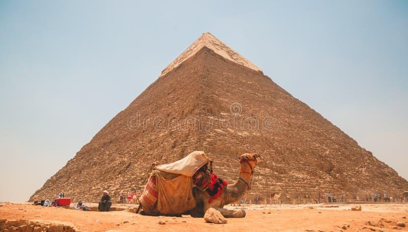 Egipt, Kair; Sierpień 19, 2014 - Egipscy ostrosłupy w Kair Łuk świątynia obrazy royalty free