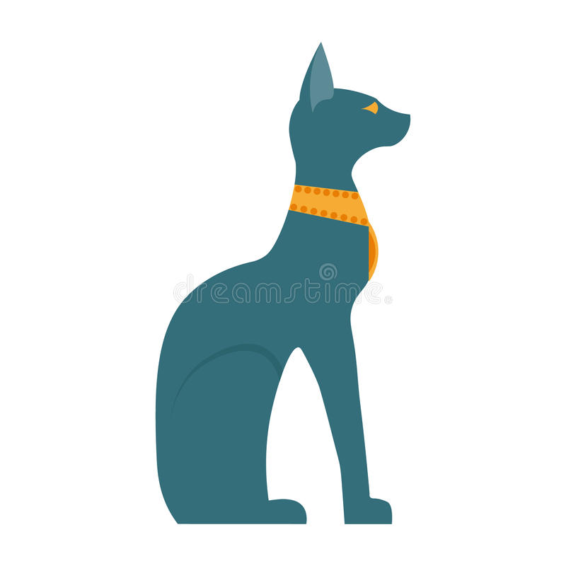 Egipt kota wektoru ilustracja Egipt kota ikony wektorowa ilustracja Egipt kot odizolowywający na białym tle Egipt kot ilustracji