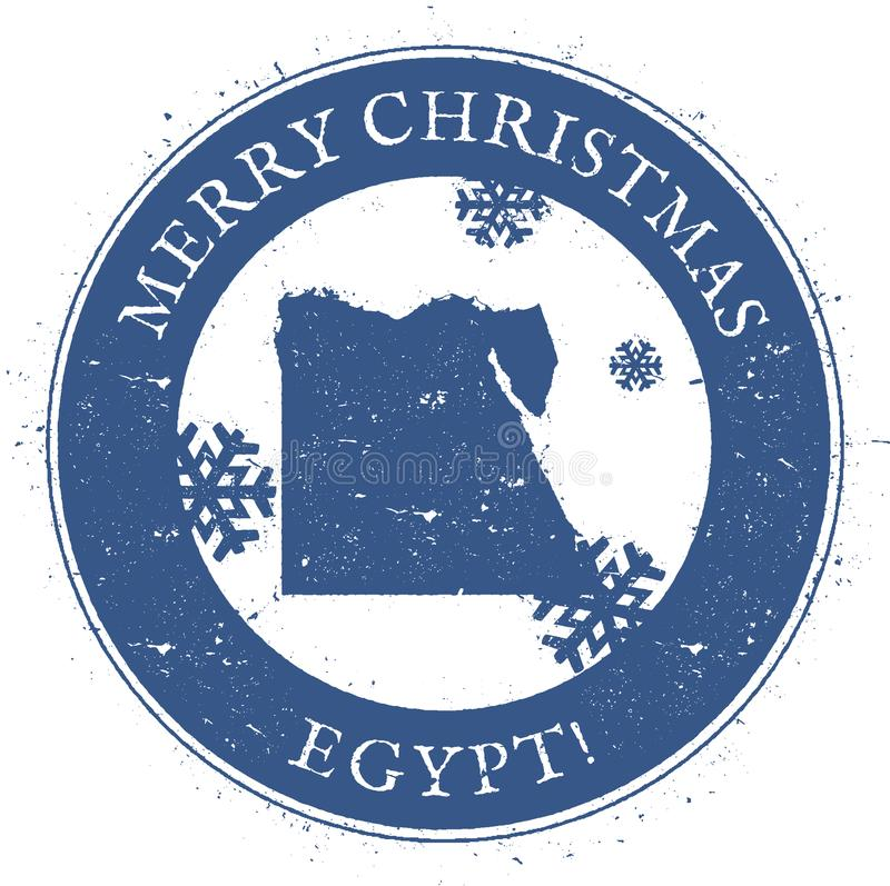 Egipt mapa Roczników Wesoło bożych narodzeń Egipt znaczek royalty ilustracja