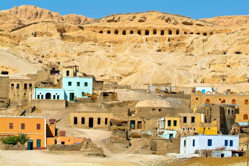 Egipt, Nil dolina, Luxor teren, Thebes obraz stock