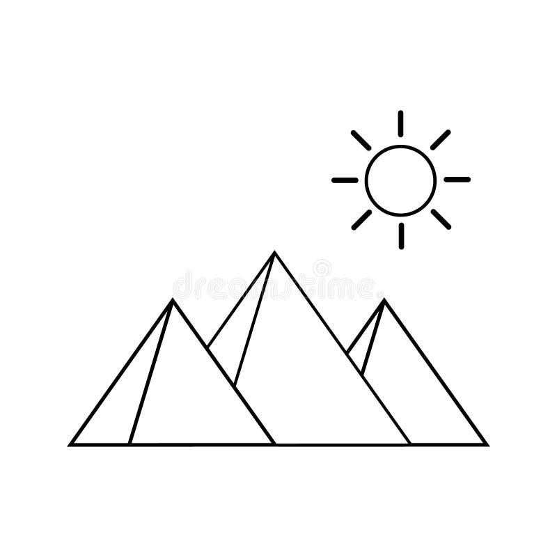 Egipt ostros?up?w wektorowa ikona, Giza egipcjanina krajobraz wektorowi ostros?upy ilustracyjni ilustracji