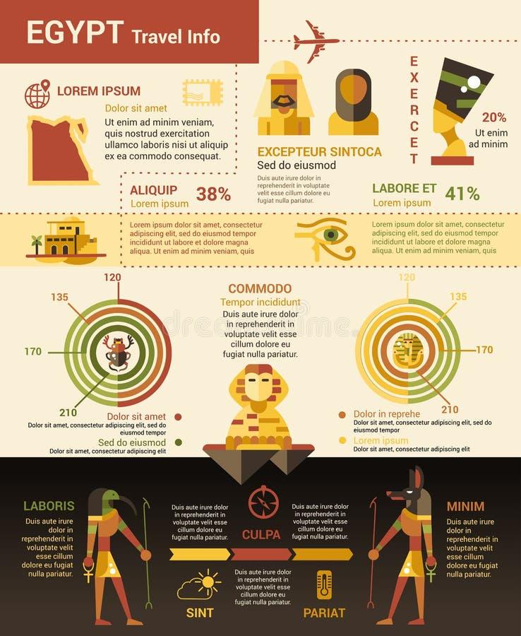 Egipt podróży informacja - plakat, broszurka okładkowy szablon