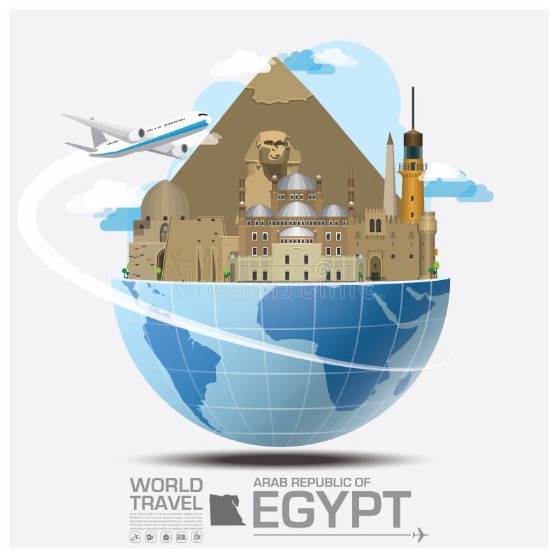 Egipt punktu zwrotnego Globalna podróż Infographic I podróż