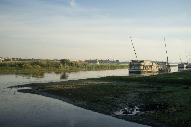 Egipt Statek przy Nil w Luxor obrazy stock