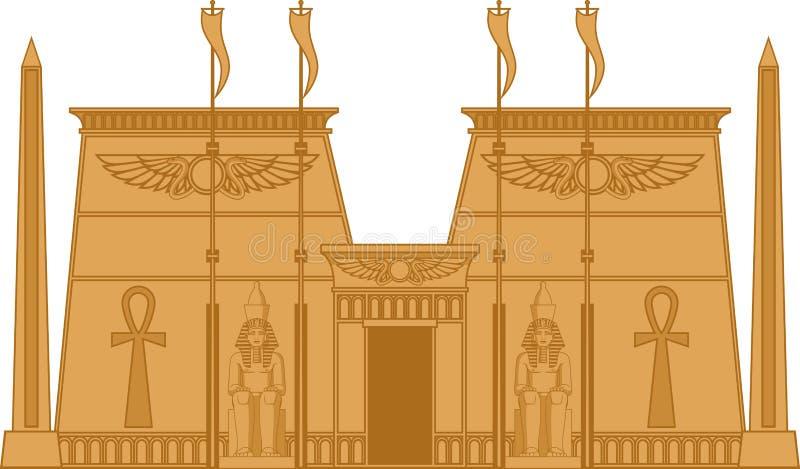 Egiptian寺庙 库存例证