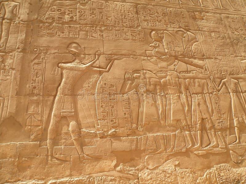 Egiptian hieroglyps lizenzfreie stockfotografie