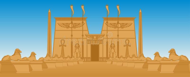 Download Egiptian Temple stock illustration. Image of desert, stone - 38741086