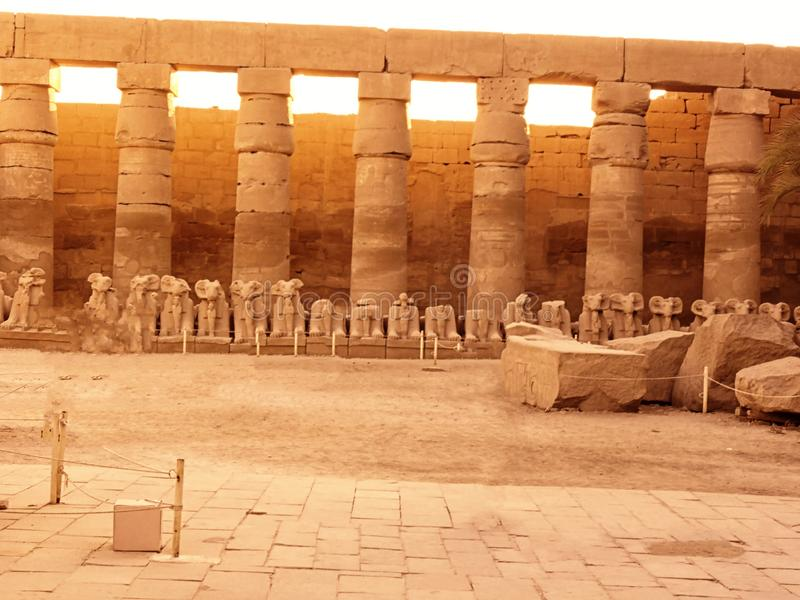 Egipto, África del Norte, templo de Luxor, Karnak fotos de archivo