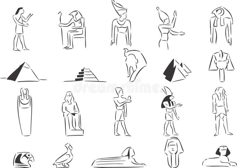 Egipto antigo ilustração royalty free