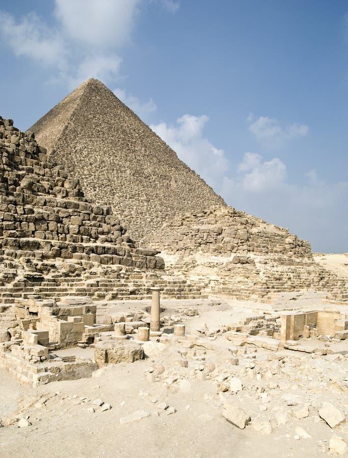 Egipto con las pirámides fotos de archivo