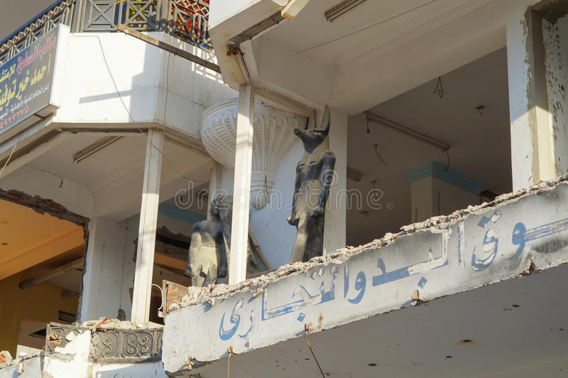 Egipto constructivo dilapidado fotografía de archivo libre de regalías