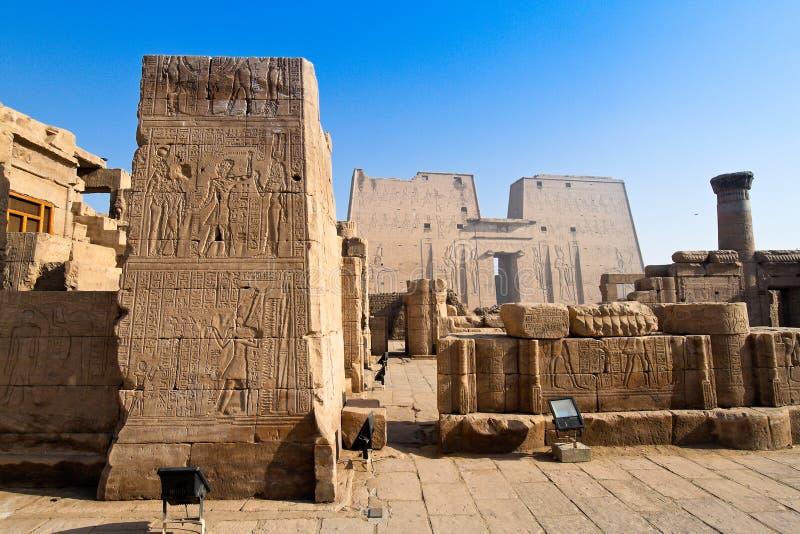 Egipto, Edfu, Horus fotografia de stock