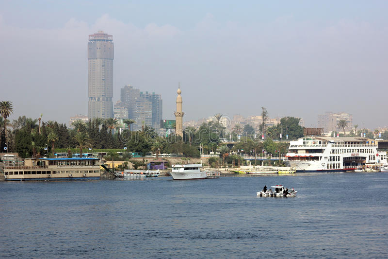 Egipto El Cairo el río Nilo fotografía de archivo