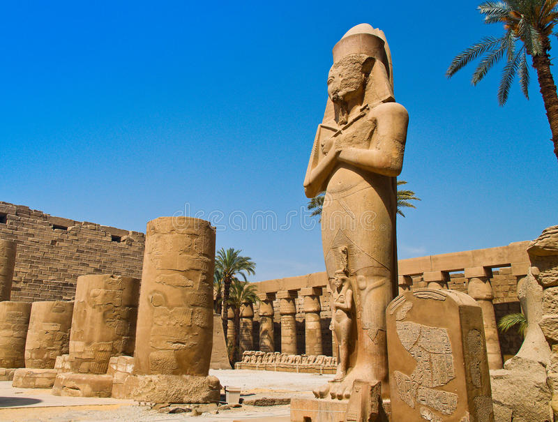 Egipto, Luxor, templo de Karnak foto de stock royalty free