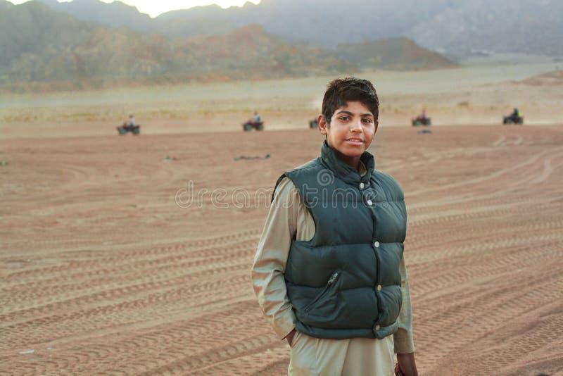 EGIPTO, SHARM EL-SHEIKH, O 12 DE JANEIRO DE 2015: Bedoui moderno egípcio imagens de stock