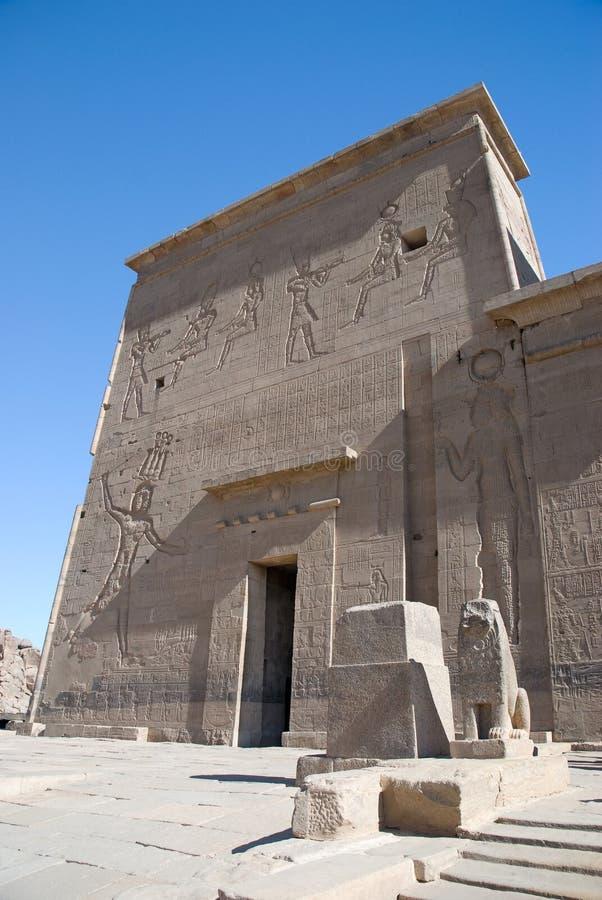Egipto, templo de Philae fotos de stock royalty free
