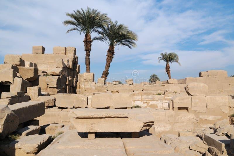 Egipto, templos de Karnak foto de archivo