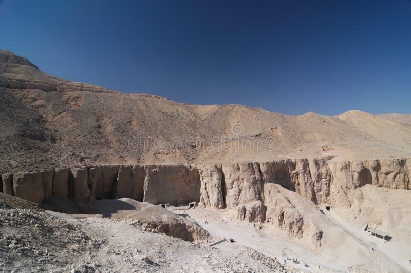 Egipto - vale dos reis imagens de stock