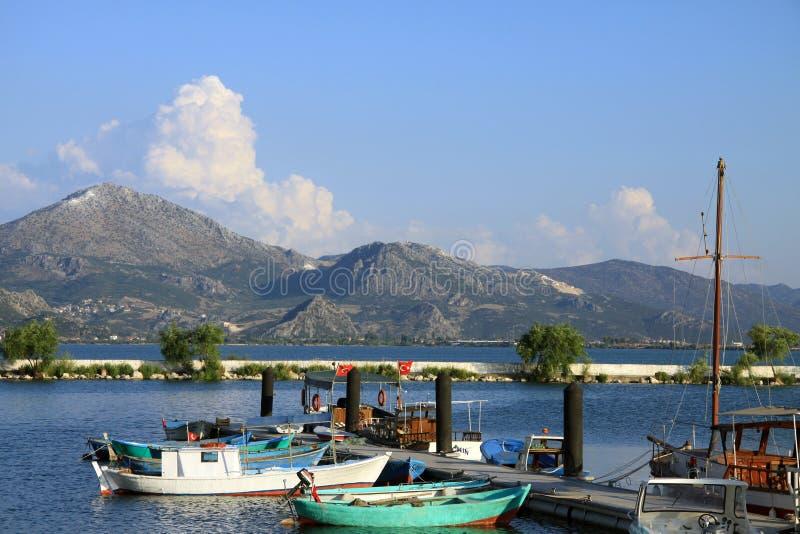 Egirdir -harbour and lake royalty free stock image
