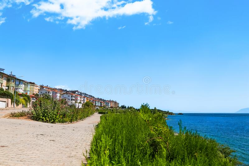 Egirdir is a visitable place for holiday lovers all year round. Egirdir has located 139 km from Antalya. Beautiful lake and for a calm atmosphere ... Isparta royalty free stock image